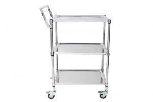 ART018 heavy duty stainless steel platform trolley