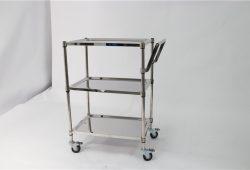 ST180R ağır hizmet tipi paslanmaz çelik platform arabası